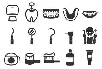 Dental care icons - Illustration Set 2