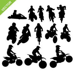 Motorcross silhouettes vector