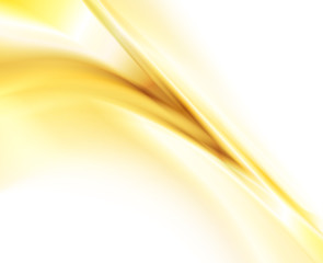 Abstract gold background, elegant wavy