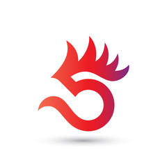 Five Rooster Logo