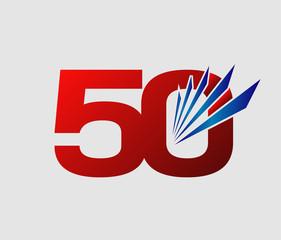 50 years anniversary vector illustration