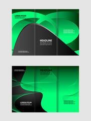 brochure folder leaflet background, block for images