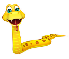 fun walk Snake cartoon character