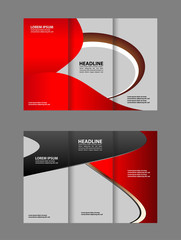 brochure design template waves tri-fold