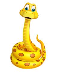 fun sitting  Snake cartoon character