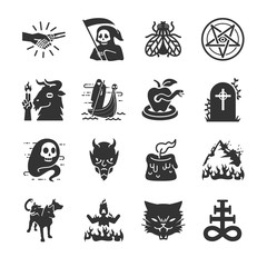 Hell and evil icons