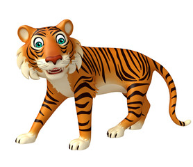 funny Tiger cartoon character