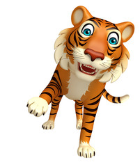 hold  Tiger cartoon character
