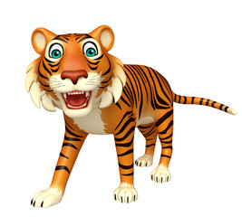 walk Tiger cartoon character
