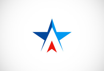 star shape triangle vector logo