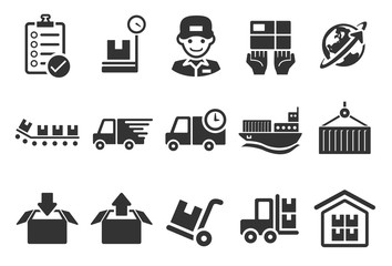 Logistics Icons - Illustration