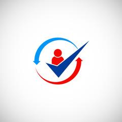 people check list vector logo
