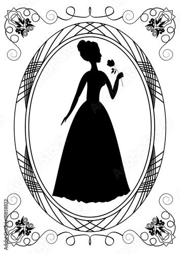 Beautiful wedding lady woman pattern template diy metal cutting.