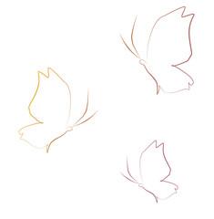 Butterflies background logo