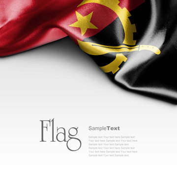 Flag of Angola on white background. Sample text.