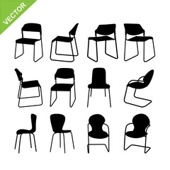 Chair silhouette vector