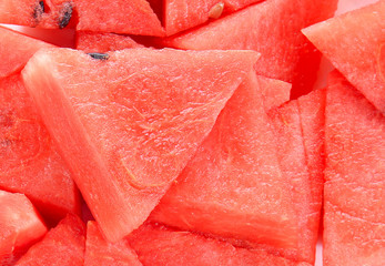 Watermelon cut pieces.Watermelon slices.