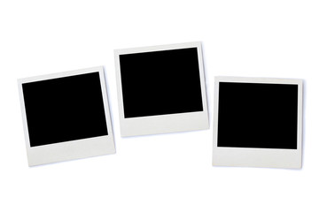 stack of Instant photo frames, isolated on white background