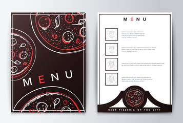 Design menu background pizza for restaurant or coffee.