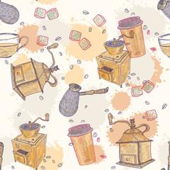 Coffee vintage seamless pattern