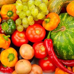 Fotobehang Kruidenierswinkel Collection fruit and vegetables