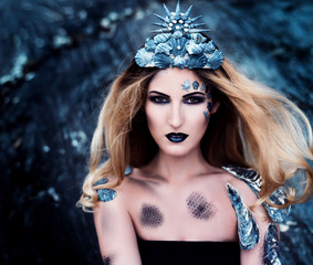 Nixe - Wassernixe - Meerjungfrau - Makeup