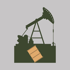 Industry design. oil pump icon.  Factory concept