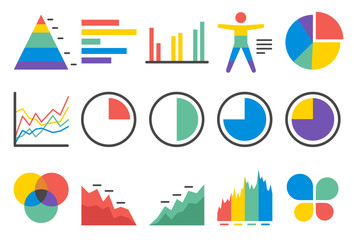 Stock Vector Illustration: Stat icons set 1