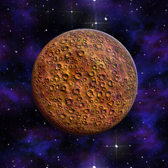 Planet Mars red  Galaxyl 3D illustration