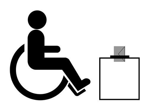 Personne handicapée à une élection