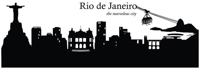 Vector illustration of the city of Rio de Janeiro, Brazil