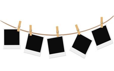 Empty photo frames blank retro photoframe Decorative template frame design