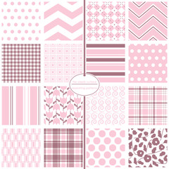 Repeating patterns for digital paper, scrapbooking, cards, invitations, gift wrap, backgrounds and borders. File includes: polka dots, stripes, chevrons, gingham/plaid, argyle and more.
