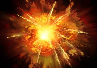 Fond de hotte en verre imprimé Univers 爆発