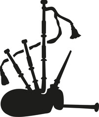 Bagpipe silhouette