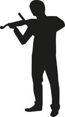 Violin player silhouette