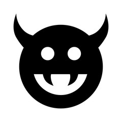 Monster, demon or enemy flat icon for games and websites