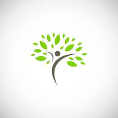 happy people organic plant logo