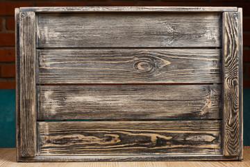 Black wooden box