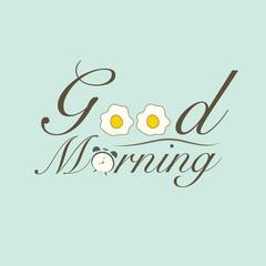 Good morning object. vector design illustration.