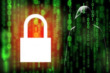 Digital technology data encryption can prevent hacker or data leak in matrix (hidden data)
