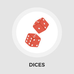 Dices vector flat icon