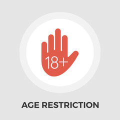 Age Restriction Vector Flat Icon