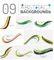 Pack of vector abstract backgrounds
