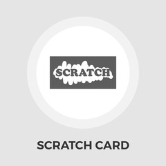 Scratch card vector flat icon