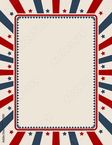 vintage american patriotic background with blank space stock image