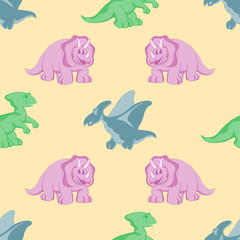 funny dinosaurs seamles background