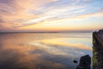 West Kirby Marina - Wirral Merseyside UK sunset