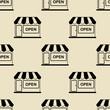 Detaily fotografie Icono plano patron con tienda sobre fondo beige