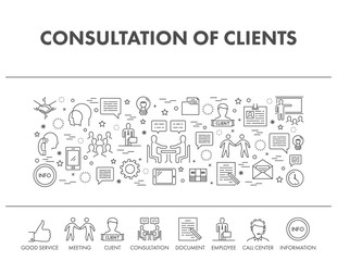 Outline design concept for consultation of clients